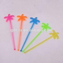Plastic mixer tea swizzle stick