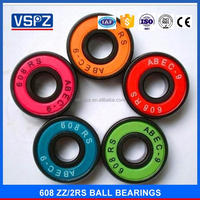 2017 High speed low noise GCR 15 Deep groove ball bearings 18 80018 608ZZ 608 2rs 608rz for Skateboard shoes Fingertip toys
