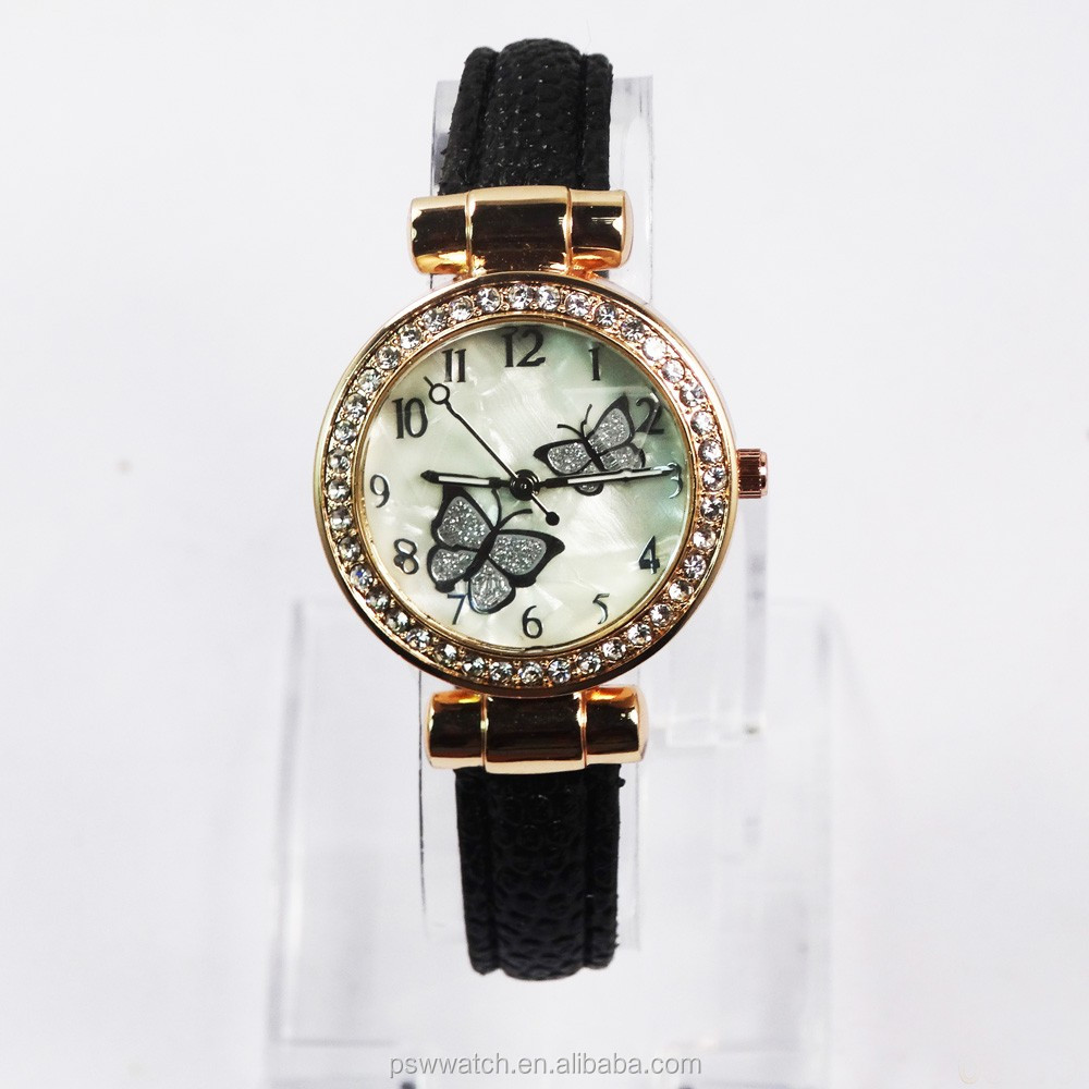 Fashion diamond decorate ladies fancy watch small dial face for beauty