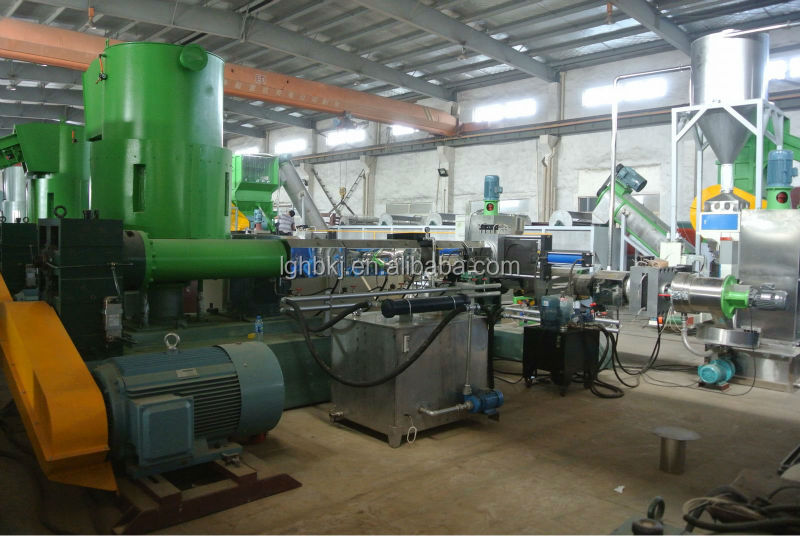 BOPP film recycling granulator machine