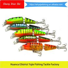 Multi-section Hard Plastic Artificial Bait Jointed Fishing Lures