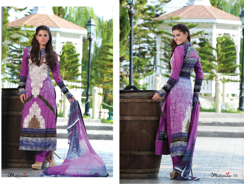 Al Zohaib Textiles Mahiymaan Lawn Collection 2013