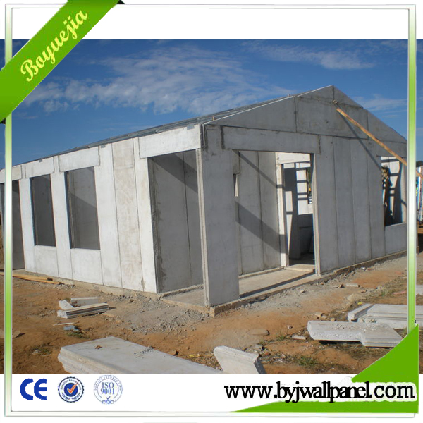 eps cement sandwich wall panel for prefab hotel / prefab house