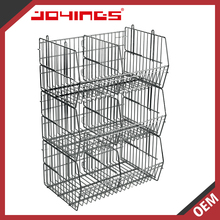 Heavy Duty Stackable Chrome Slanting Wire Basket