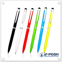 Colorful metal touch screen stylus ball point pen