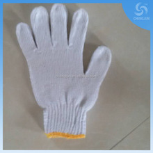 hot selling 34g/42g natural and bleach color knitted cotton glove