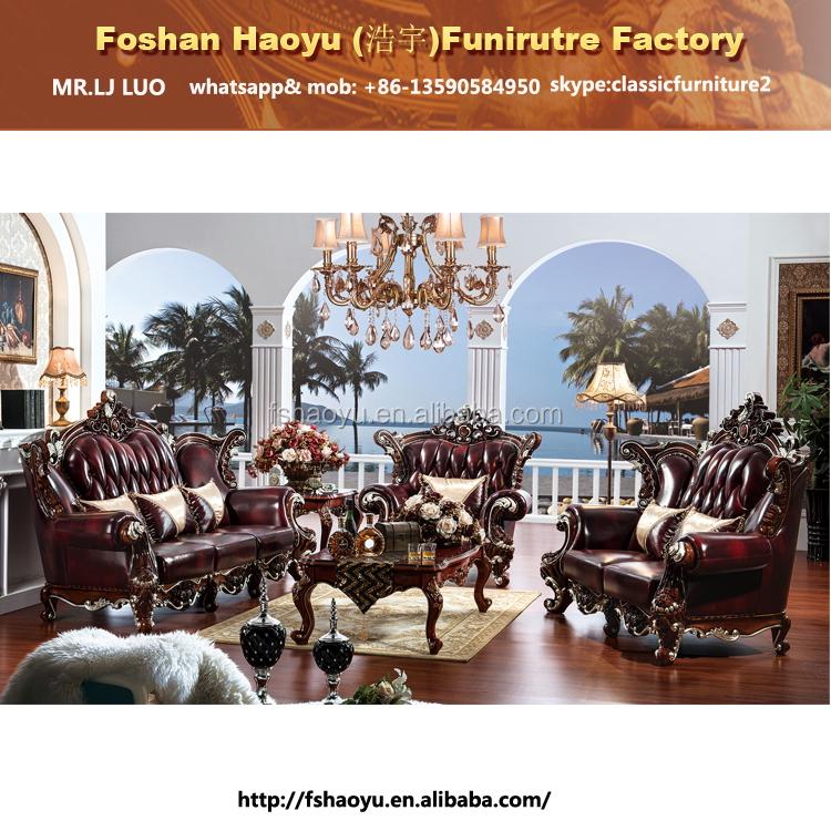 Royal Roten Leder Sofa, Wohnzimmer Ledersofa Möbel