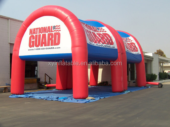 Guangzhou XYuan tent outlet red color inflatable carport garage
