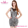 Bling bling sleeveless sequin bodycon frock 2016 woman cocktail dress