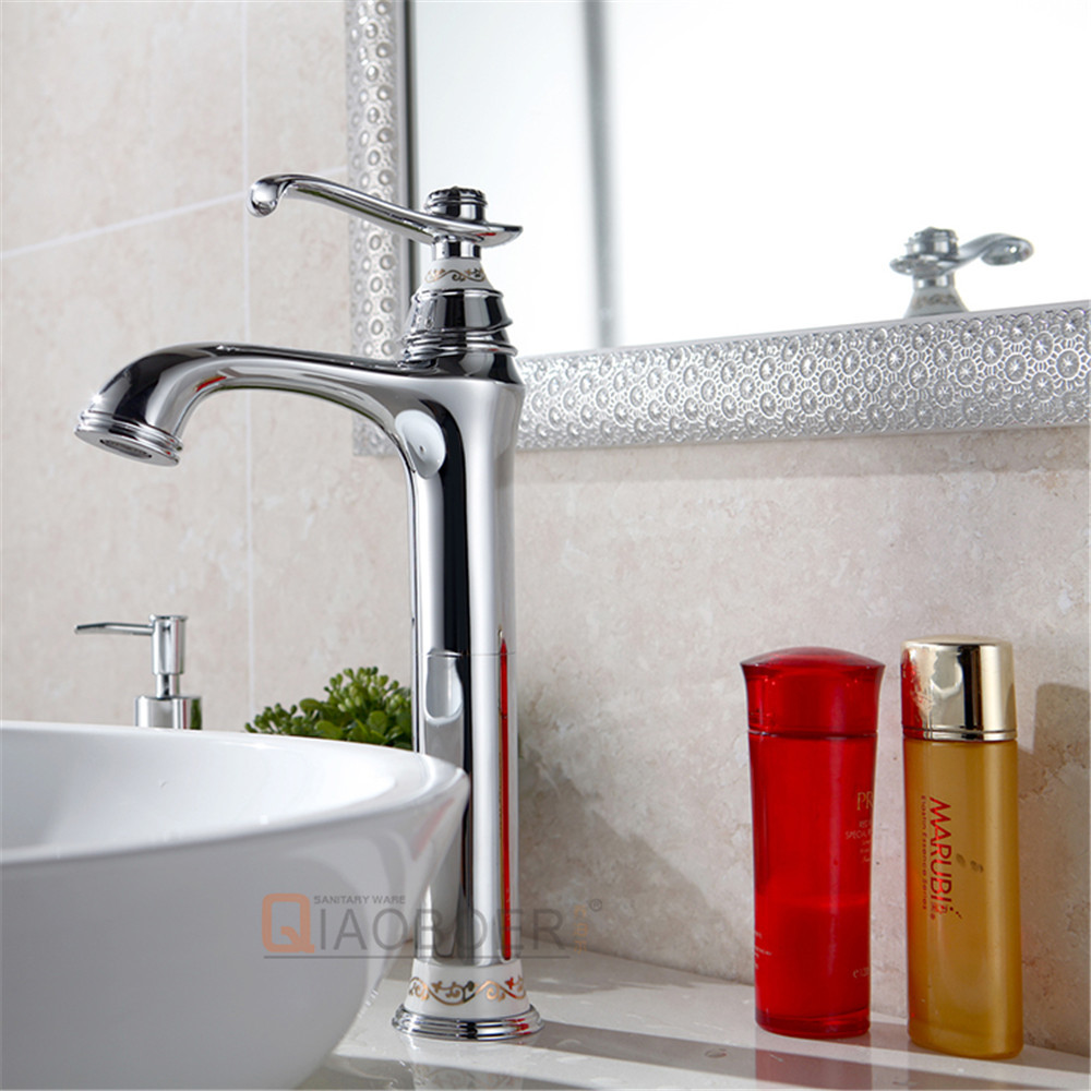 Brand new chrome brass bathroom basin faucet
