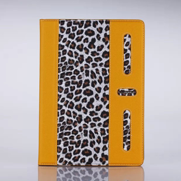 Leopard Skin PU Leather Case 360 Degree Rotating Smart Phone Cover for iPad Air 2, pu leather phone case