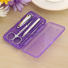 plastic box mini 4 pcs nail clipper sets with plastic cover