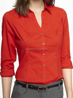CHEFON Long sleeve princess cut women workwear design for formal blouses