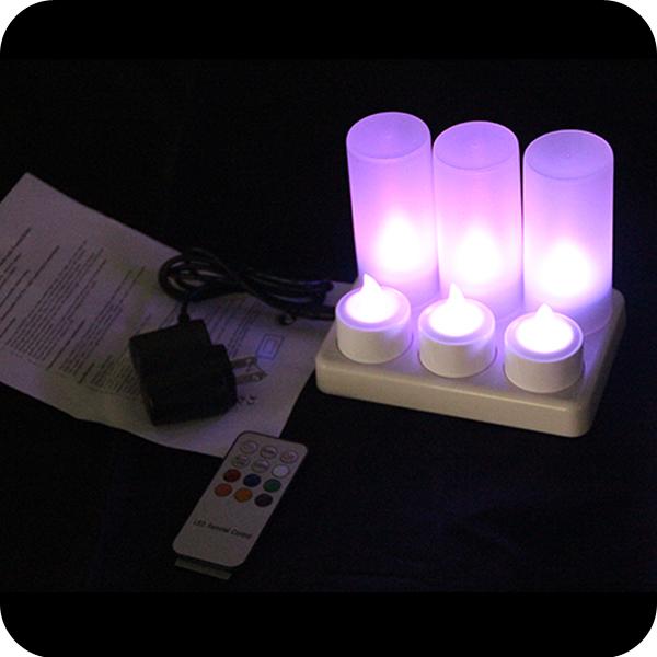 CE RoHs led tea light candles with flickering candle flame