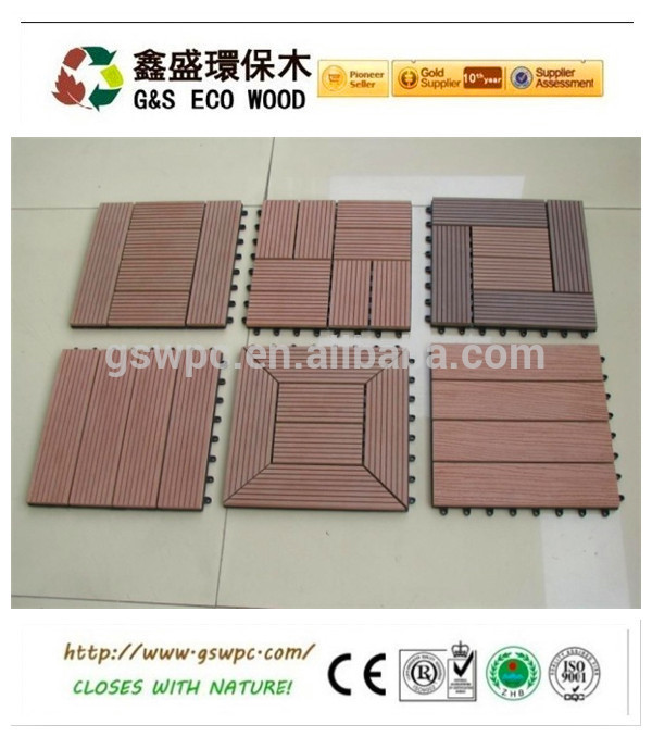 newteck 300X300mm High quality and Good Price WPC DIY Decking Floor System