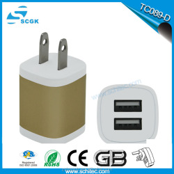 Wall charger for mobile phone 5V 1A dc output usb wall charger