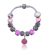 2015 Winter Hot Sale Purple Glass Beads Charm Bracelet Wholesale