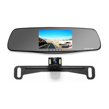 5.0 inch dvr car camera dual lens car dvr 6 layers glass IR lens camera car dvr