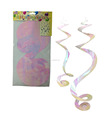 Happy Birthday Hanging Spiral Swirl Party Decorations Garland