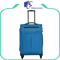 Wellpromotion high quality travel luggage bag with trolley