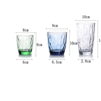 High quality colored glass water cup