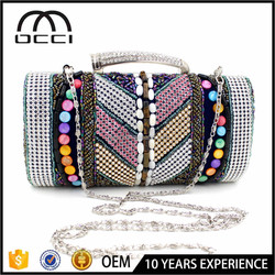 Wholesale clutch bags shinny gem evening bag trendy ladies bag with cheap price QR1908