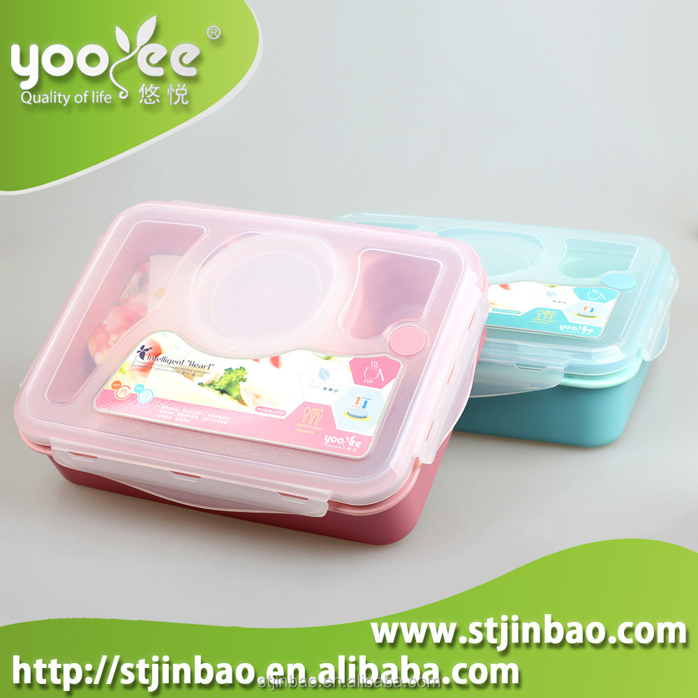 Leakproof Plastic 3 Sectional Lunch Box With Soup Bowl And Spoon  sc 1 st  My Psdc : sectional lunch containers - Sectionals, Sofas & Couches