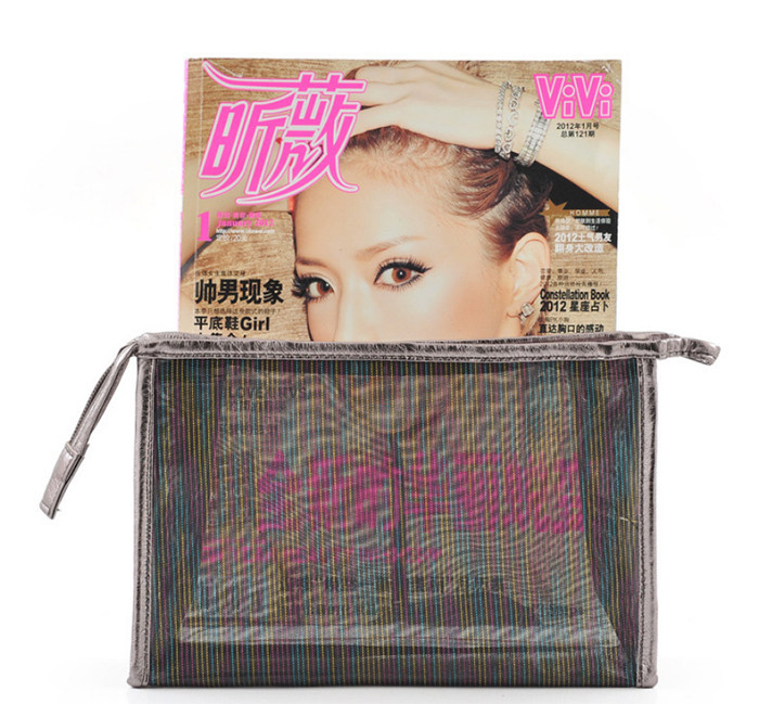 OEM promotional transparent clear pvc cosmetic bag travel makeup bag_11