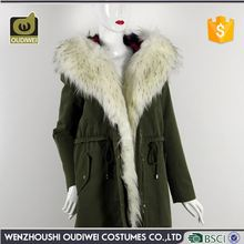 Factory sale keep warm fashionable beam waist fur hooded cheap jackets coats
