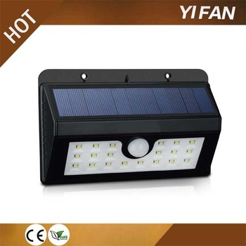 20 LED High quality PIR 3.7V Small Solar Security Led Solar Motion Sensor Light night light