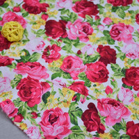 100% Cotton Fabric Printed Floral Poplin Fabric For Sewing Textile