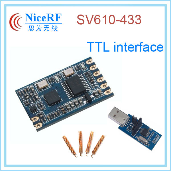 TTL interface SV610 1400M distance 315-433mhz small transmitter and receiver radio module