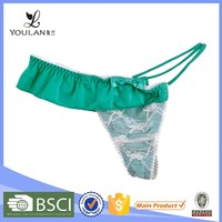 stylish fashionable high cut hot polyester cheap sexy young girl underwear sexy g-string