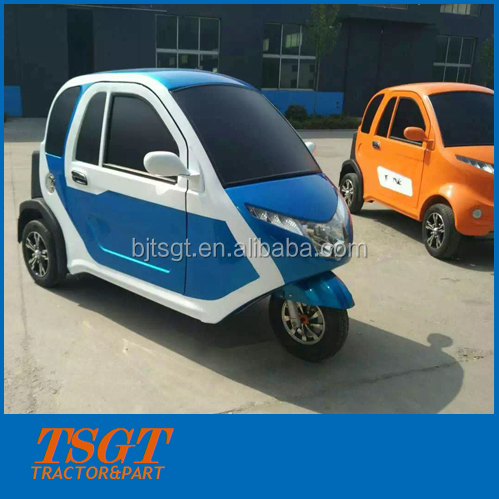 3 wheel electric car for hotel customers rent taxi use with heater closed cabin high quality lower price new model in 2017