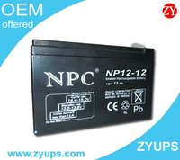 12Ah Lead Acid UPS Battery 12V12AH NP12-12 12ah lead battery