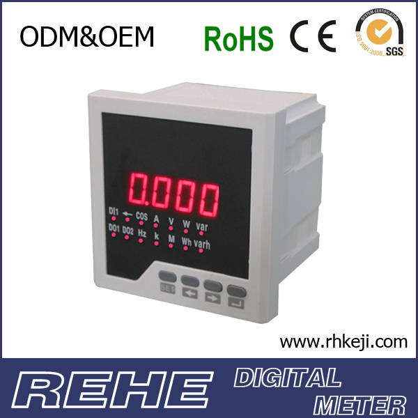 Multi-function meter,Three-phase AC volt amp meter digital Combined Meters LED RH-3UIF series multimeter