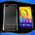 clear Transparent tpu soft cell phone case for Alcatel One Touch A5 LED tpu cover