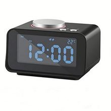 Digital led alarm clock radio ,HLubh retro dmf wooden radio