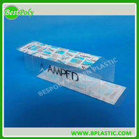 Clear plastic box for LED bulb packaging