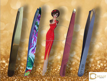stainless steel eyebrow tweezers slanted eyebrow tweezers gold and color eyebrow tweezers