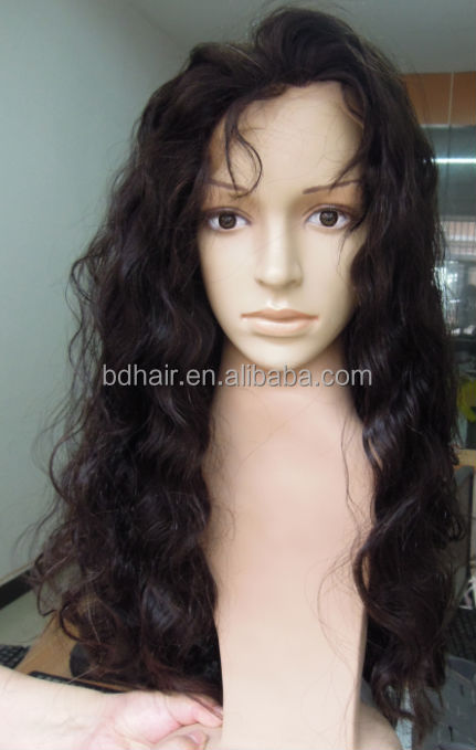silk base inject top outre hair wig remy hair full lace wig
