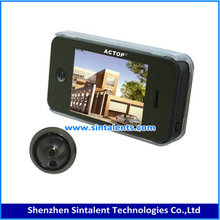 "Wholesale 5.8G Door Peephole Wireless Camera with DVR DR3505(door camera with 5"" HD screen monitor)"
