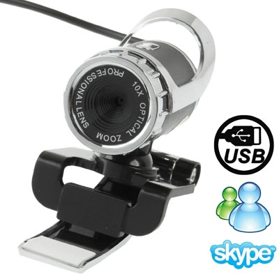 5.0 Mega Pixels 10X Digital Zoom USB 2.0 Driverless PC Camera / Webcam with Clip, Support 360 Degree Rotation