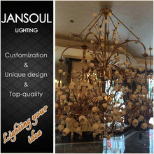 2015 hot new model retro decorative hanging acrylic chandeliers pendant lights