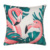 New Style Cheap Customized flamingo Cotton Linen pillow cover and silk pillowcase