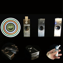 2017 new design LED fingertip gyroscope USB cigarette lighter hand spinner fidget toys