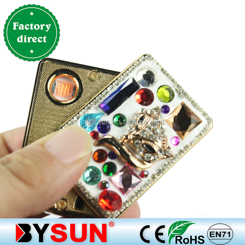 zinc alloy fox jewel lighter/wholesale lighters/cigarette lighter making machineBS-1207