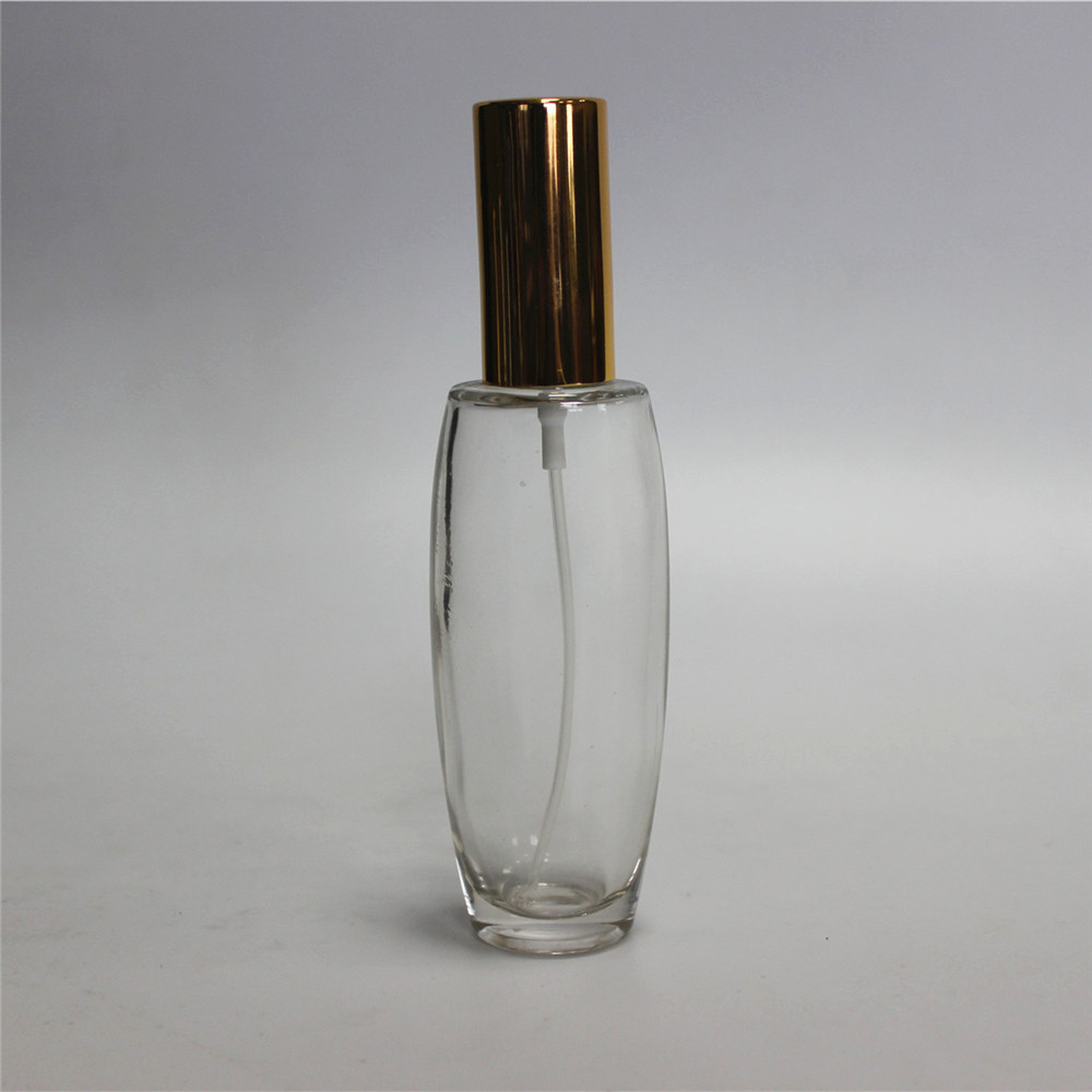 perfume glass spray bottle with a cap