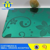 Hot sell new design etched stainless steel decorative sheet panel