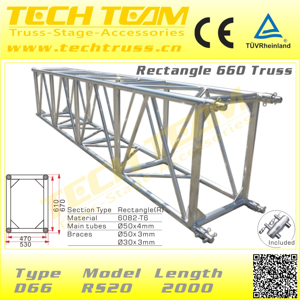 Galvanized Heavy Duty Lighting Totem Truss